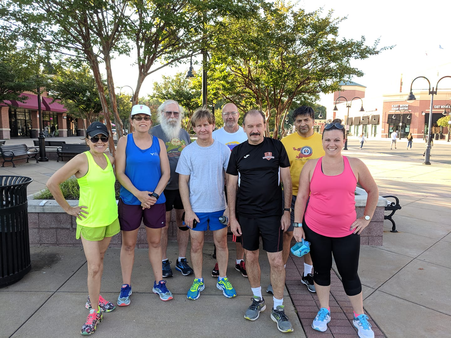 Group of runners from the Thursday run on August 23, 2018.