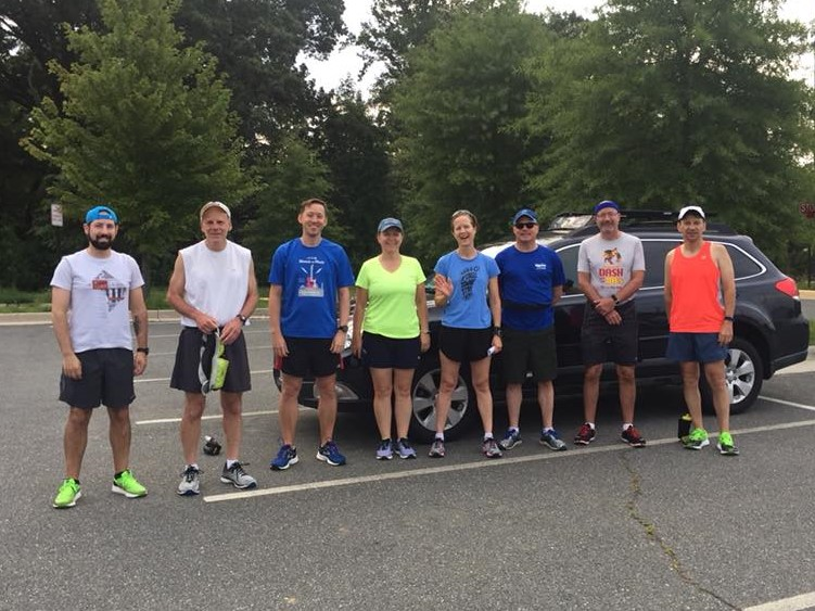 Runners from the Saturday Mt Vernon Trail run.